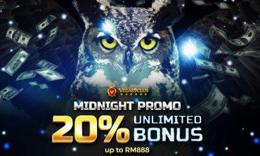 Midnight Promo 20% Unlimited Bonus